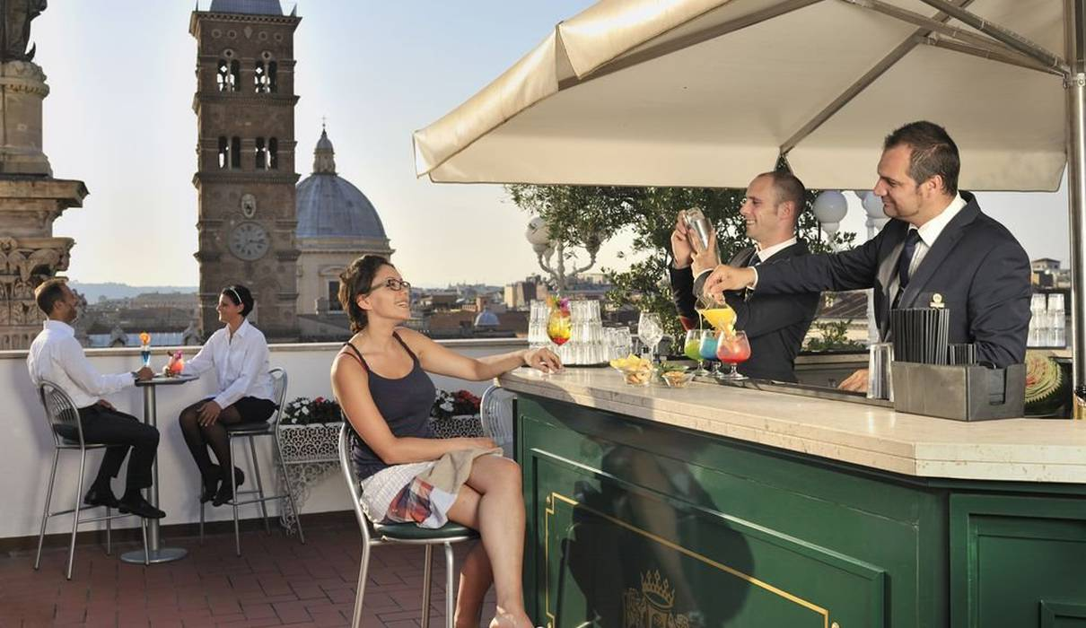 Sky bar Hôtel Mecenate Palace Rome